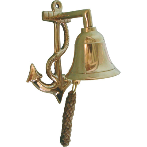 Batela Giftware-Home Decoration-Bell with Anchor Wall Mounting and Rope Ringer