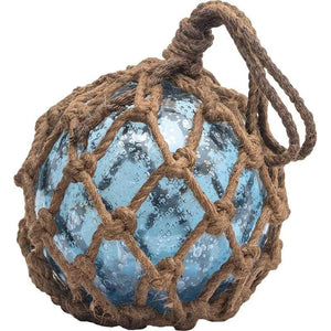 Batela Giftware Home Decoration Blue Vintage Glass Buoy