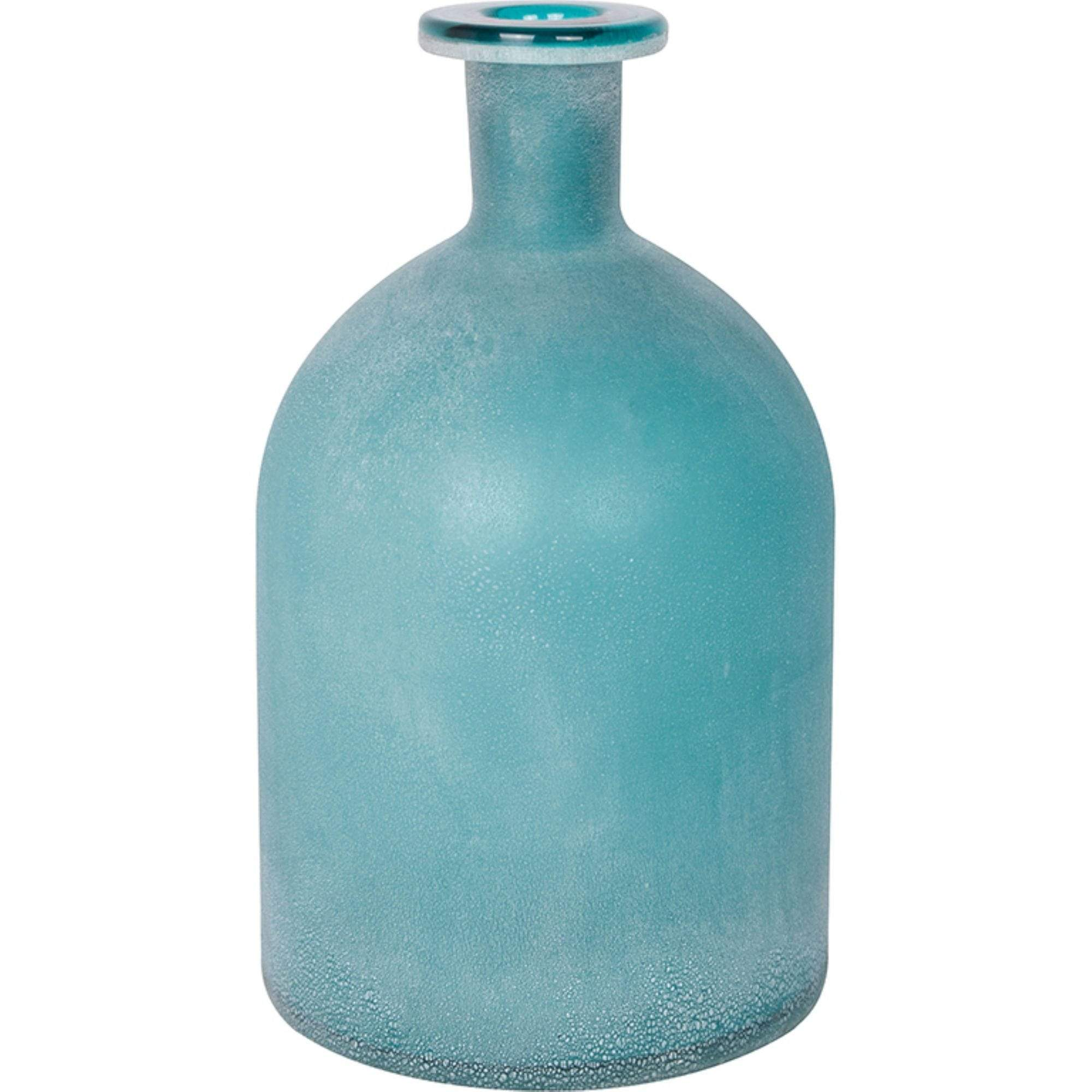 Batela Giftware-Home Decoration-Frosted Aqua Glass Bottle
