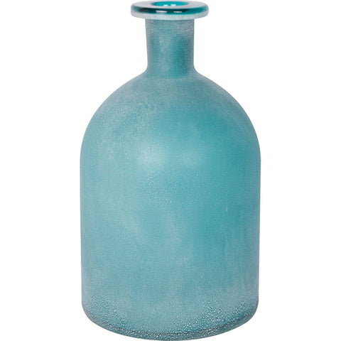 Batela Giftware Home Decoration Default Frosted Aqua Glass Bottle