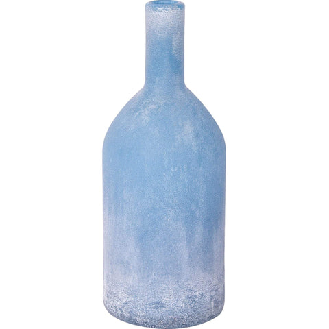 Batela Giftware Home Decoration Default Frosted Ultra Marine Glass Bottle