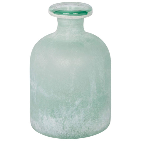 Batela Giftware Home Decoration Default Large Frosted Green Glass Bottle