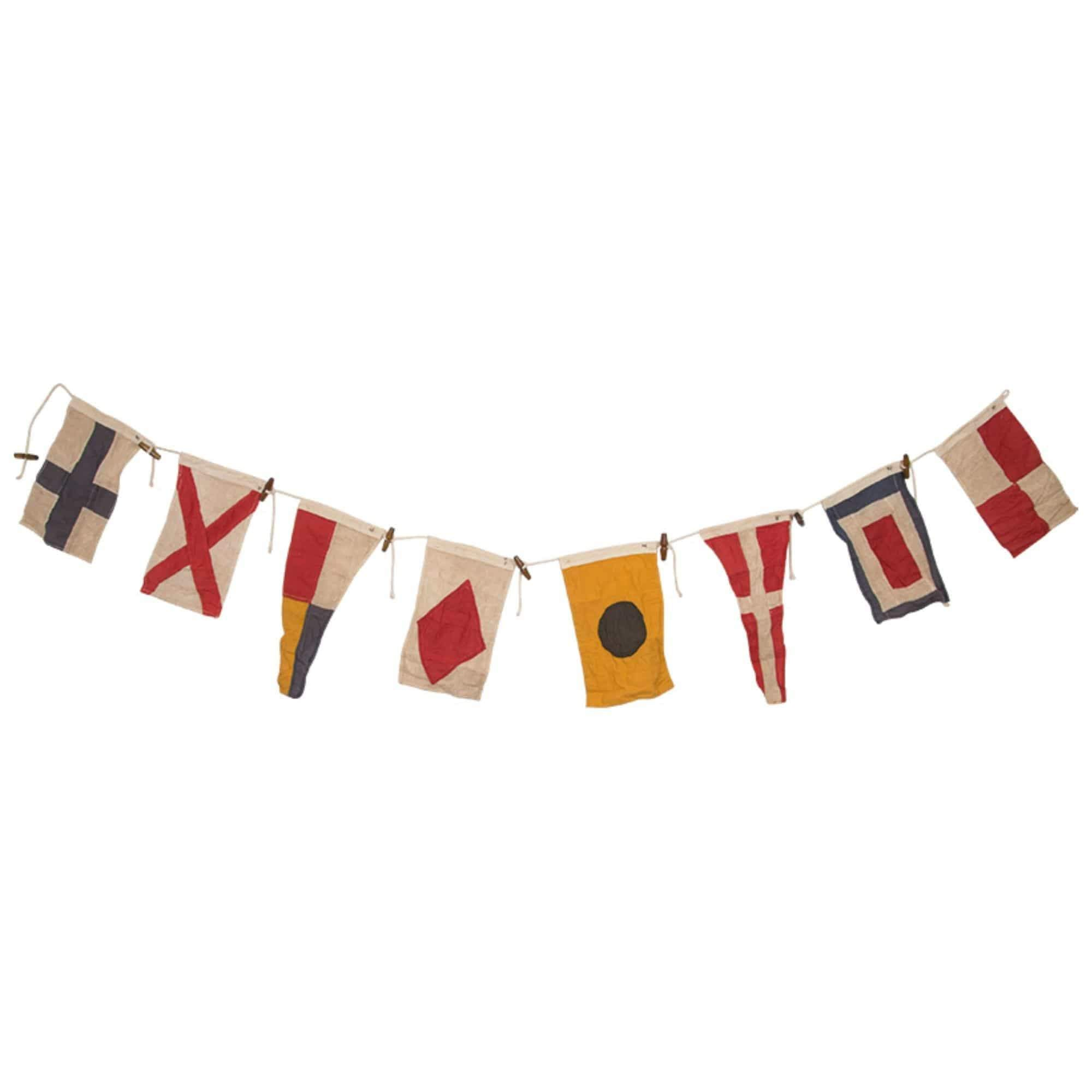 Batela Giftware-Home Decoration-Vintage Nautical Signal Flags Bunting - Large