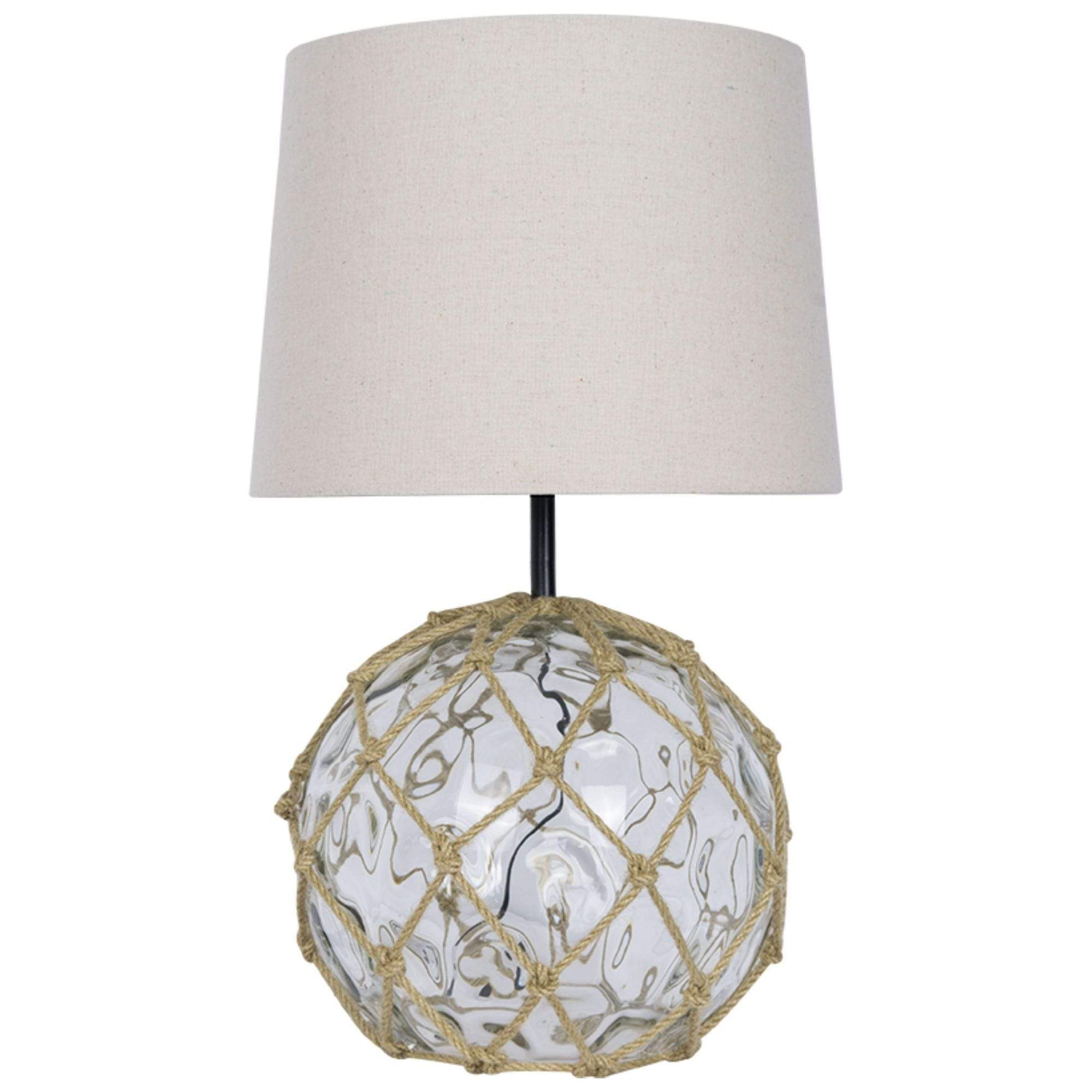 Batela Giftware-Lamp-Clear Glass Buoy Table Lamp