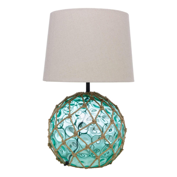Batela Giftware-Lamp-Green Glass Buoy Table Lamp