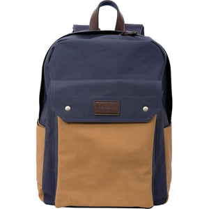 Batela Giftware-Men's Bags-Water-Resistant Backpack in Blue and Tan