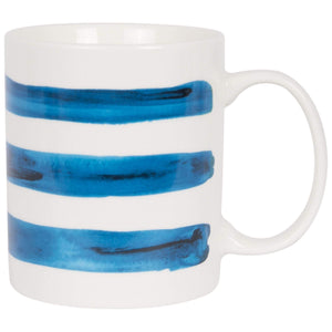 Batela Giftware-Mugs-Nautical Striped Mug (Set of 4)