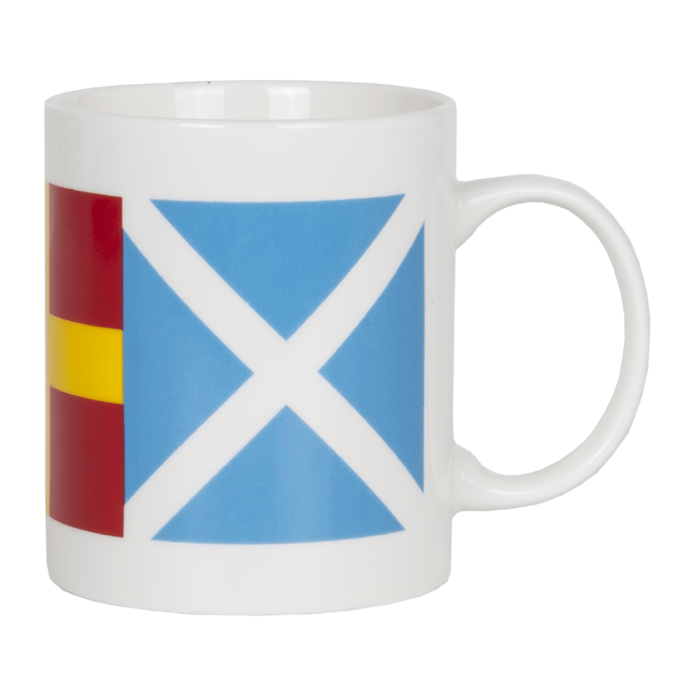 Batela Giftware-Mugs-Mugs - Flags Design (Set of 4)