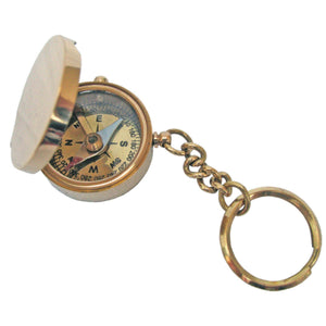 Batela Giftware Nautical Office Decoration Compass Key Ring with Wooden Box