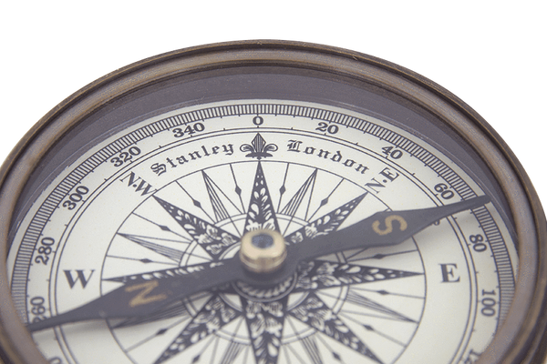 Batela Giftware-Nautical Office Decoration-Compass with Leather Case
