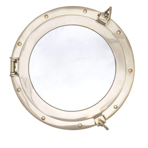 Batela Giftware-Nautical Office Decoration-Brass Porthole Mirror, Medium