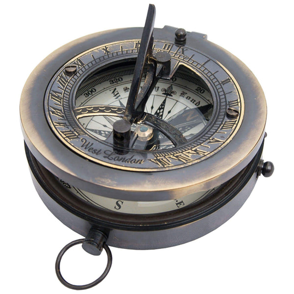 Batela Giftware-Nautical Office Decoration-Sundial with Compass