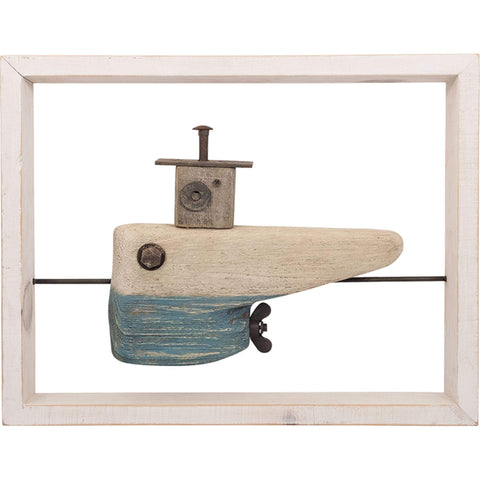 Batela Giftware Ornaments Default Driftwood Submarine with Frame