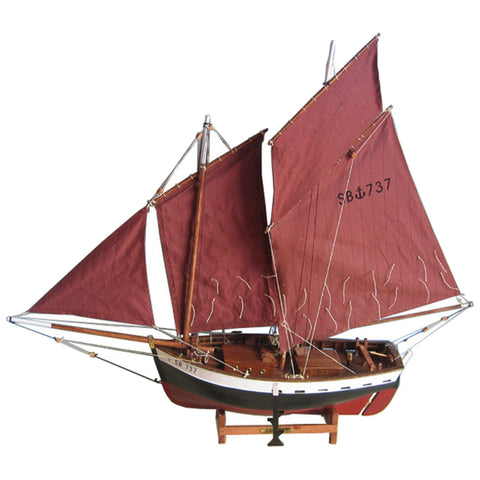 Batela Giftware-Sail Boats-Red Sailing Ship - Model Boat