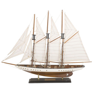 Batela Giftware Sail Boats Sailing Ship With Triple Masts - Display Model Boat