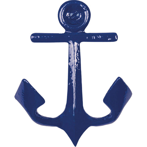 Batela Giftware-Coat Racks & Hooks-Anchor Coat Hooks - Blue (Set of 4)