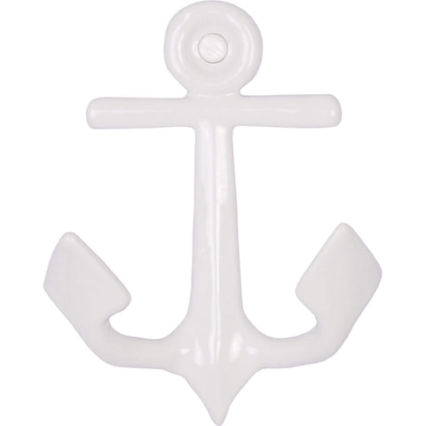 Batela Giftware-Coat Racks & Hooks-Anchor Coat Hooks - White (Set of 4)