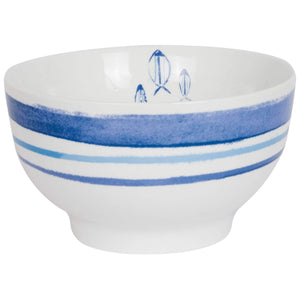 Batela Giftware Tableware Default Marine Sriped Bowls (Set of Six)