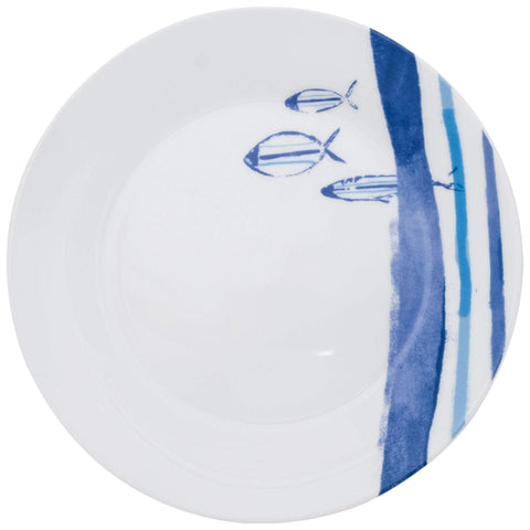 Batela Giftware Tableware Default Marine Striped Plates (Set of Six)