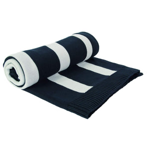 Batela Giftware Throws Navy And White Plaid Throw