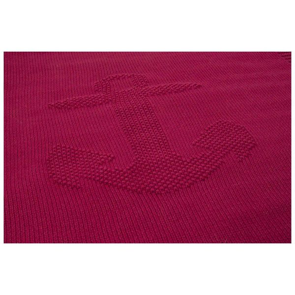 Batela Giftware-Throws-Red Anchor Throw