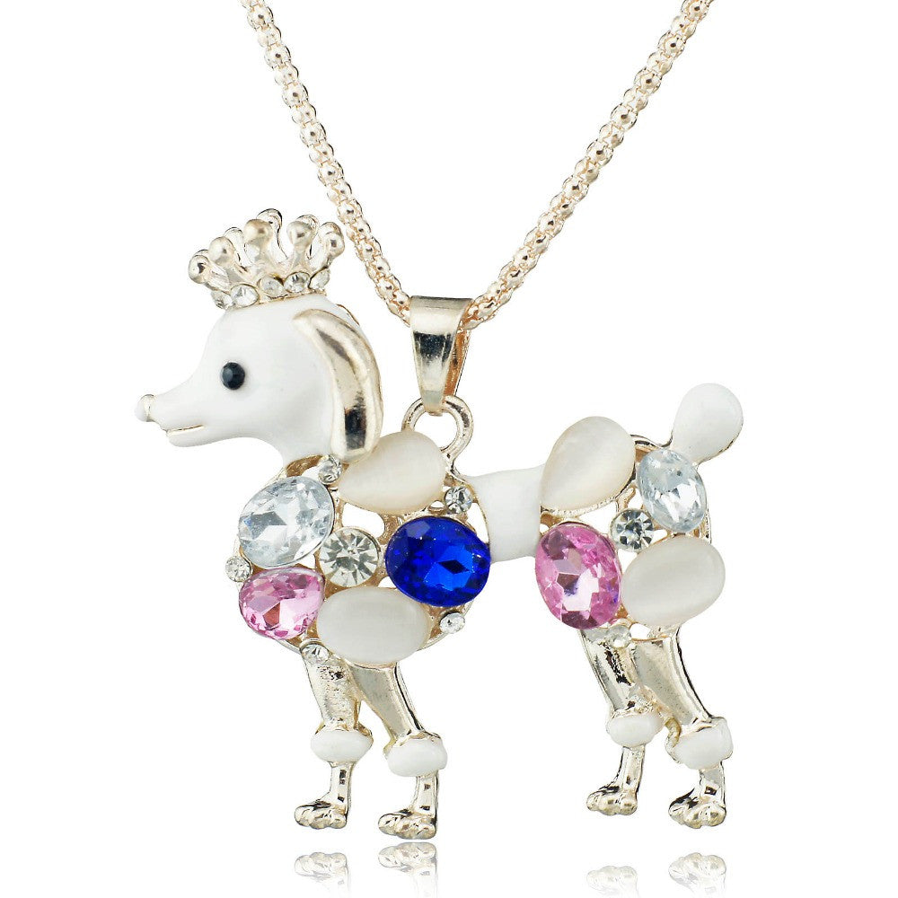 Beautiful Poodle Dog Pendant with long chain – The Pet Rescue Shop