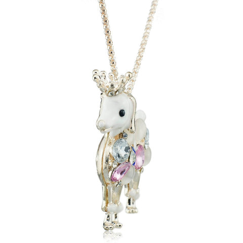 Beautiful poodle dog pendant with long chain the pet rescue shop beautiful poodle dog pendant with long chain mozeypictures Image collections