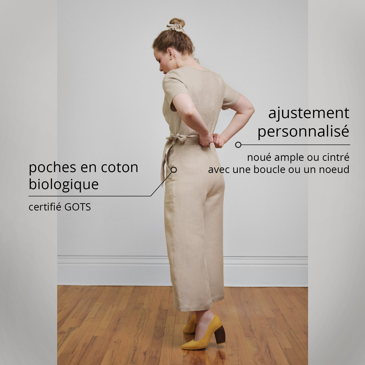 linen wrap jumpsuit Canadian fashion brand