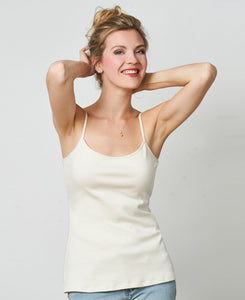 The Little Organic Cotton Tank Top - Cream