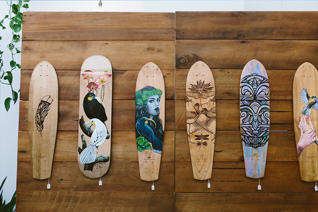 'By Natives, For Natives' The Paper Rain Project Skateboard Exhibition in support of the Wildlife Hospital, Dunedin