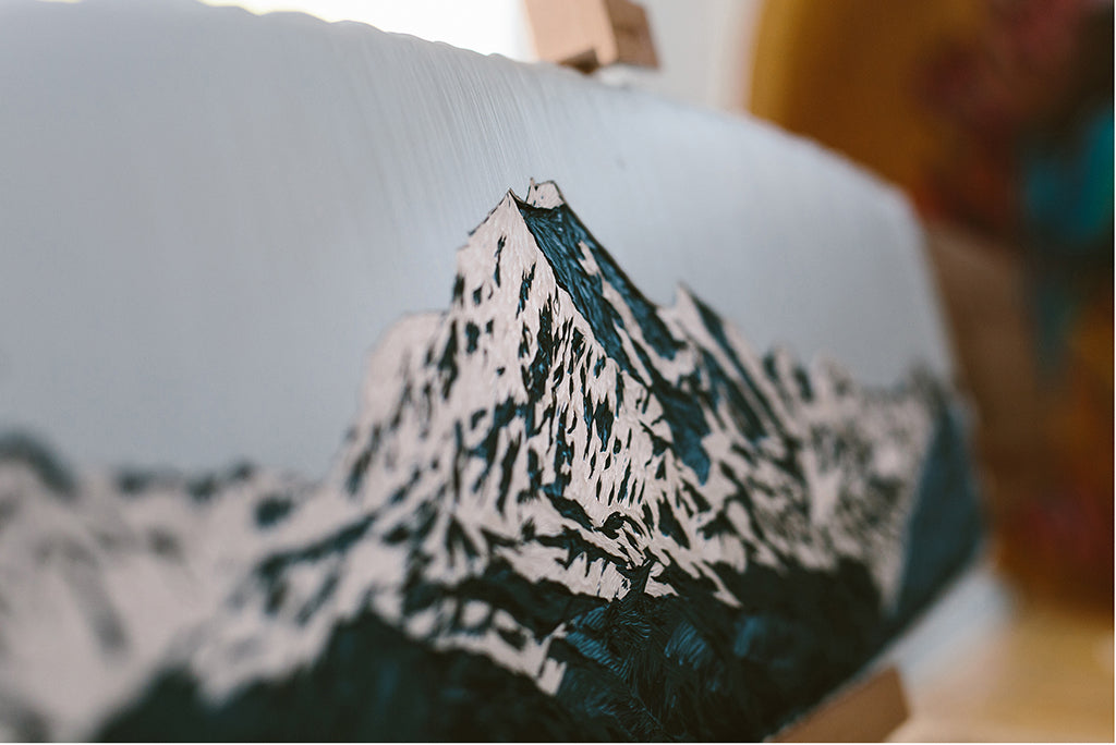 Hannah Jensen 'Aoraki' Skateboard Artwork - Photo by Jo Currie