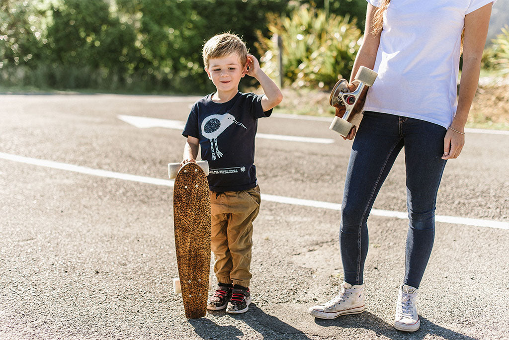 The Paper Rain Project Skateboards and Organic, Fair Trade Kid T-shirt