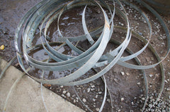 Steel rings ready for recycling