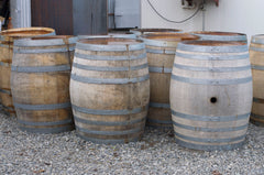 Te Whare Ra barrels ready for unravelling at The Paper Rain Project