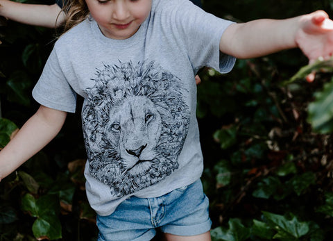 Faunesque Lion T-shirt The Paper Rain Project