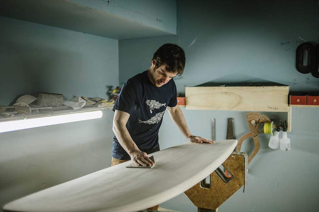 Organic Dynamic, Surfboard Shaper, Sustainable Coastlines, The Paper Rain Project