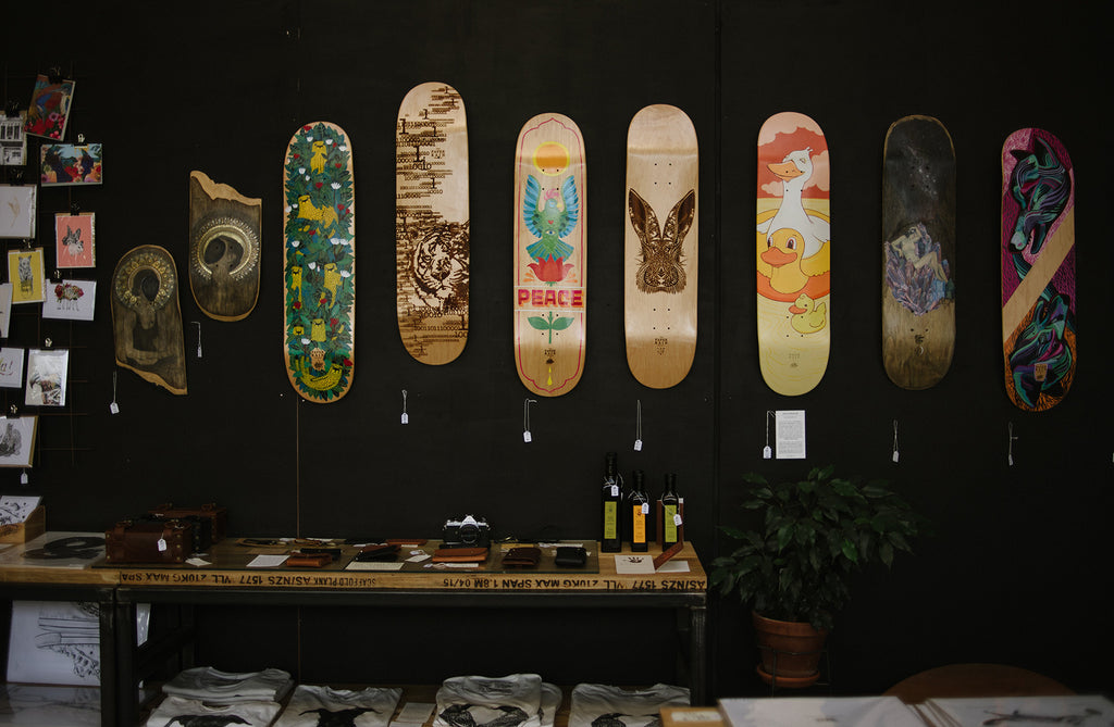 Skateboard Art with The Paper Rain Project