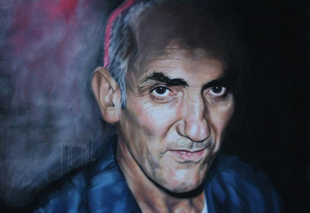 Paul Kelly, oil on canvas, realism painted by Monique Richards