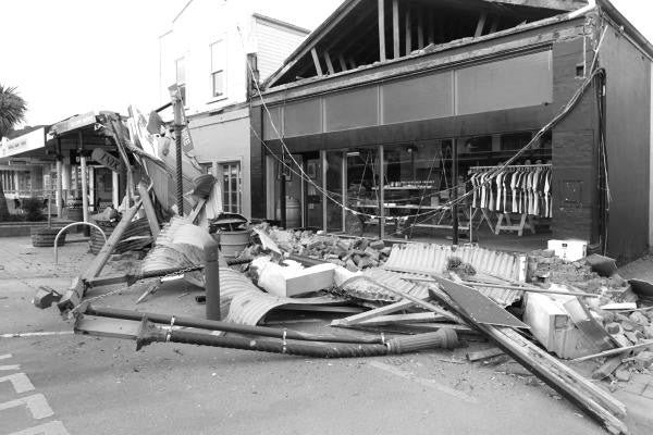 Earthquake, Picton, The Paper Rain Project