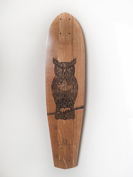 Owl by Tobias Illustrations on recycled wine barrel art board