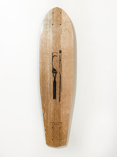 Chisel and Paintbrush classic longboard by The Paper Rain Project