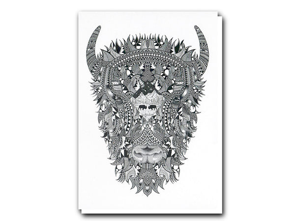 Tobias Illustrations greeting cards Bison