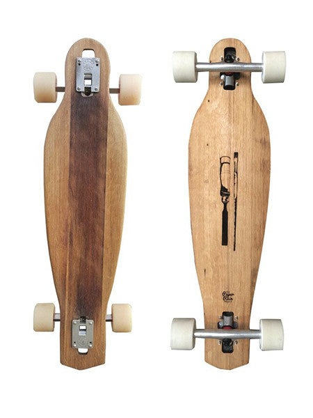 wine barrel drop-through longboard