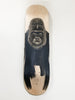 Hand painted maple skateboard in indian ink and schellac by Ellaquaint