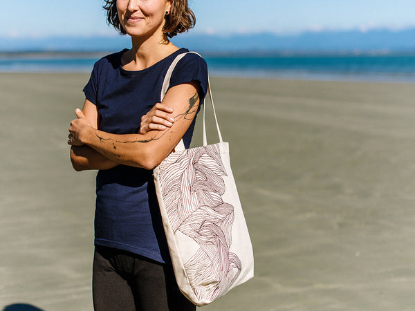 Braided Hemp Tote Bag in support of Sustainable Coastlines