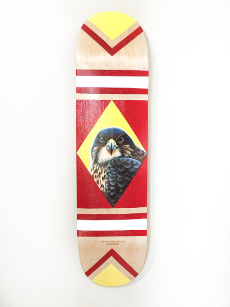 Totem, hand painted skateboard by Hannah Starnes
