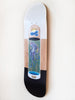 i.c.u hand painted acrylic on maple skateboard by Caroline della Porta
