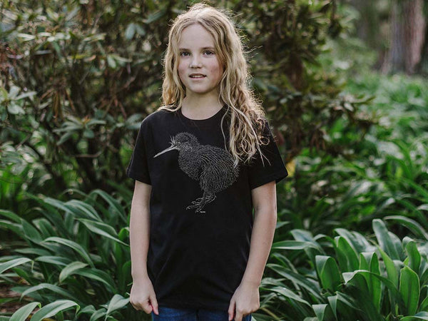 Kiwi 2.0 Kid's T-Shirt - Ethical and sustainable organic cotton tee designed by Ricardi Rios