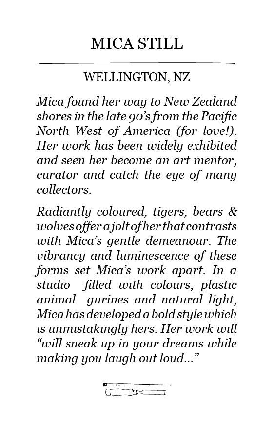The Paper Rain Project guest artist bio of Mica Still
