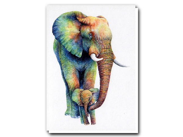 Illustrate Greeting Cards Rainbow Elephant by Colors of the Wild